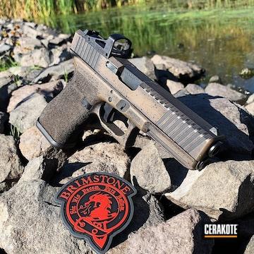Cerakoted Battleworn Glock 17 In Graphite Black And Glock Fde