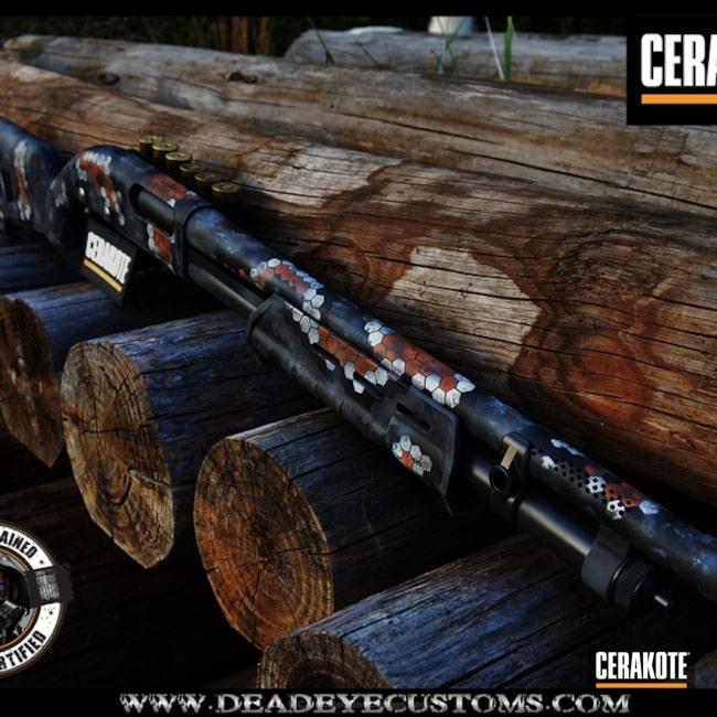 Cerakoted: Custom Mix,Sniper Grey H-234,Corvette Yellow H-144,Shotgun,Custom Color,Hex Camo,Graphite Black H-146,Bull Shark Grey H-214,Desert Gold: H-246,SIG™ DARK GREY H-210,Hunter Orange H-128