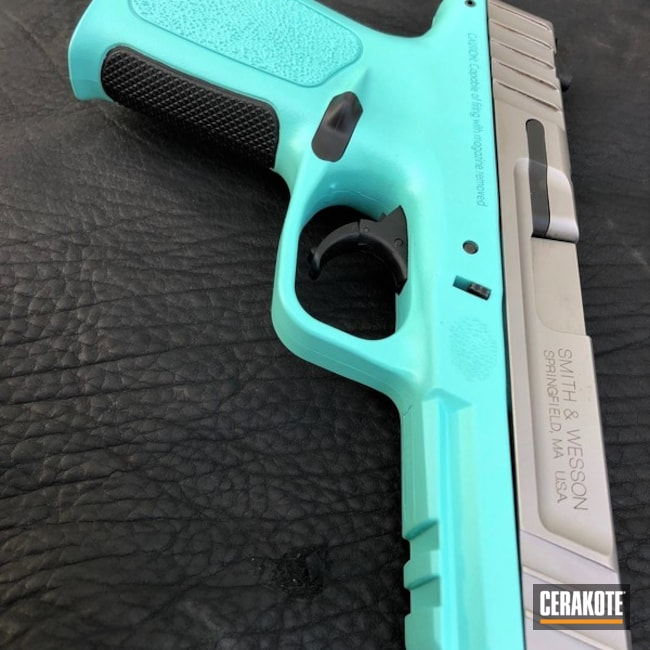 Cerakoted: Smith & Wesson SD9,Robin's Egg Blue H-175,Smith & Wesson,Pistol