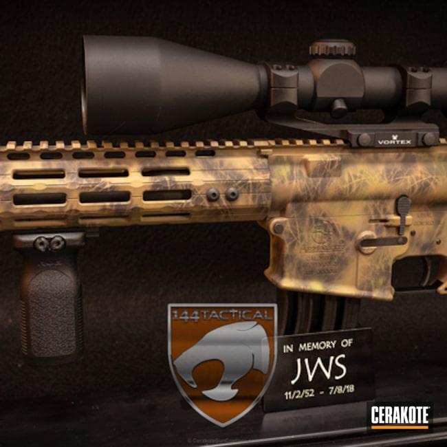 Cerakoted: TROY® COYOTE TAN H-268,AR-10,Tactical Rifle,Noveske Bazooka Green H-189,Flat Dark Earth H-265,ArmaLite,Custom Camo