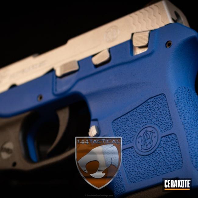 Cerakoted: NRA Blue H-171,Bodyguard,Jackson,Two Tone,Smith & Wesson,Satin Aluminum H-151,Pistol