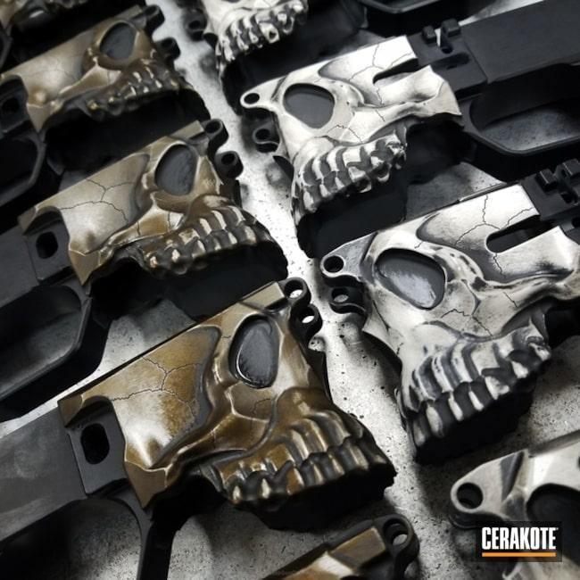 Cerakoted: Bright White H-140,Skull,Spike's Tactical The Jack,Desert Sand H-199,Burnt Bronze H-148,Jack,Sharps Brothers MDL The Jack