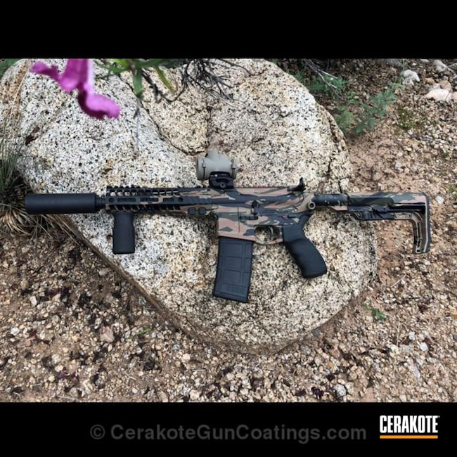 Cerakoted: Highland Green H-200,Graphite Black H-146,Camo,Tactical Rifle,SBR,LaRue Tactical,Copper Brown H-149,AR-15
