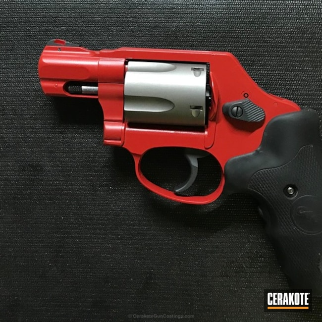 Cerakoted: Sniper Grey H-234,FIREHOUSE RED H-216,Two Tone,Revolver