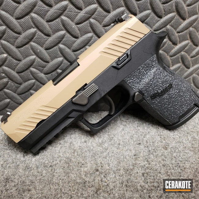 "Thumbnail image for project ""Sig Sauer P320 done in H-7504M Matte Brown"""
