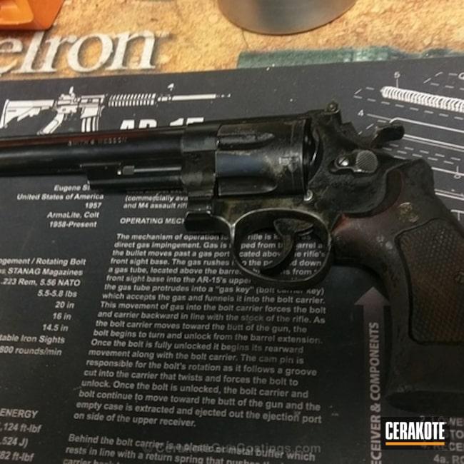 Cerakoted: Midnight E-110,Model 29,Smith & Wesson,Revolver,Restoration