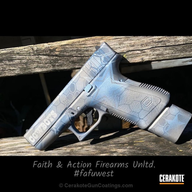 Cerakoted: Glock 19,Kryptek,SAVAGE® STAINLESS H-150,Stormtrooper White H-297,Pistol,KEL-TEC® NAVY BLUE H-127,Glock,Dallas Cowboys