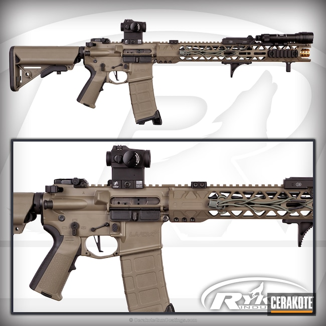 Tactical Rifle coated in H-231 MagPul Foliage Green