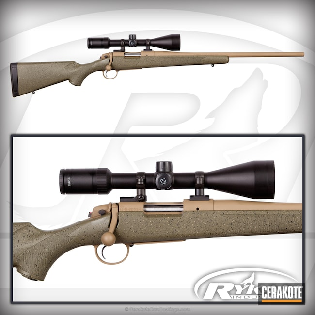 Bolt Action Rifle in H-235 Coyote Tan