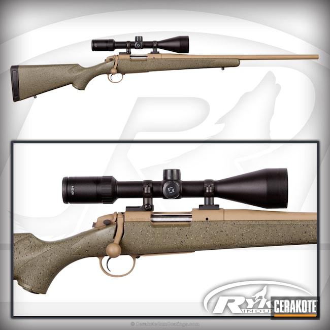 Cerakoted: Bolt Action Rifle,6.5 Creedmoor,Coyote Tan H-235,Bergara