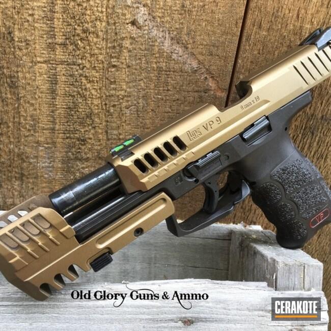 Cerakoted: Custom Machined,HK Pistol,Compensator,HKVP9,Burnt Bronze H-148,Pistol