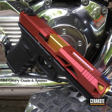 Cerakoted Custom Glock 21 Handgun In A Iron Man Finish