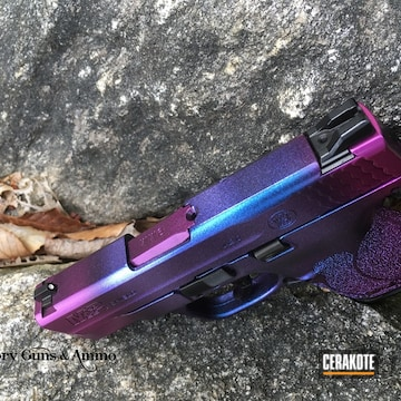 Cerakoted Smith & Wesson Map With A Purple Gun Candy Finish
