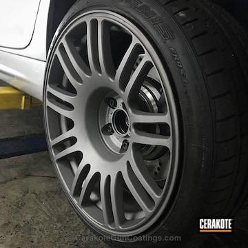 Cerakoted Custom Wheels Done In H-219 Gun Metal Grey