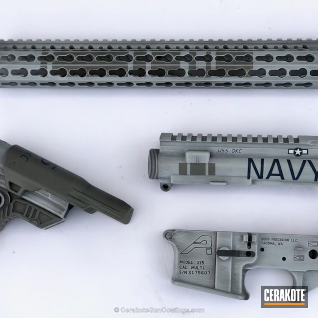 Navy Themed Rifle Build