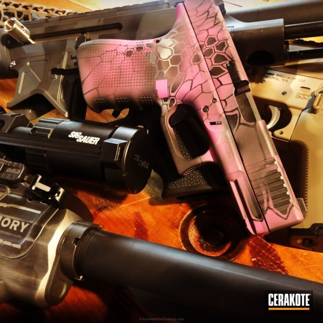 "Thumbnail image for project ""Glock Handgun in a Pink Kryptek Finish"""