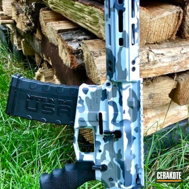"Thumbnail image for project ""AR-15 Rifle done in a Cerakote Snow MultiCam Finish"""