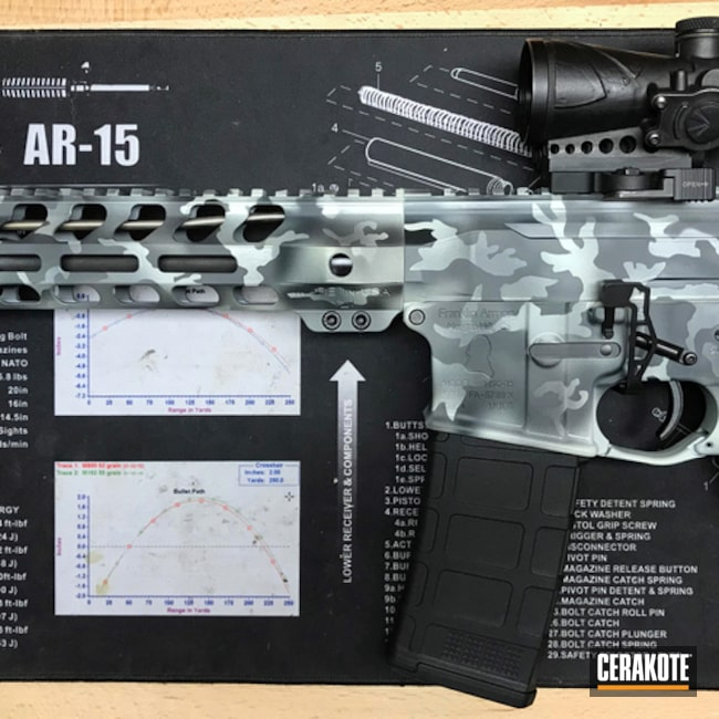 AR-15 Rifle in a Custom Urban MultiCam Finish