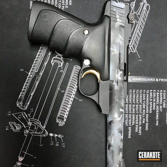 "Thumbnail image for project ""Browning Buckmark Handgun in a Cerakote Urban Camo Finish"""