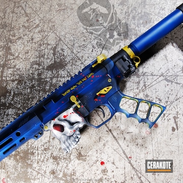 Cerakoted Spike's Tactical The Jack Ar Pistol In A Custom Distressed Cerakote Finish