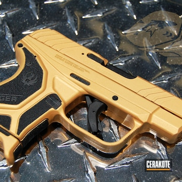 Cerakoted Ruger Lcp Ii Done In H-146 Graphite Black And H-122 Gold