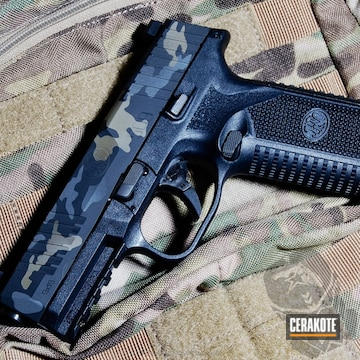 Cerakoted Fn 509 Handgun In A Multicam Black Finish