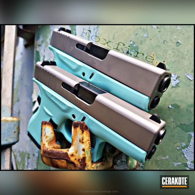 "Thumbnail image for project ""Custom Matching Glock Handguns finished in H-175 Robin's Egg Blue"""