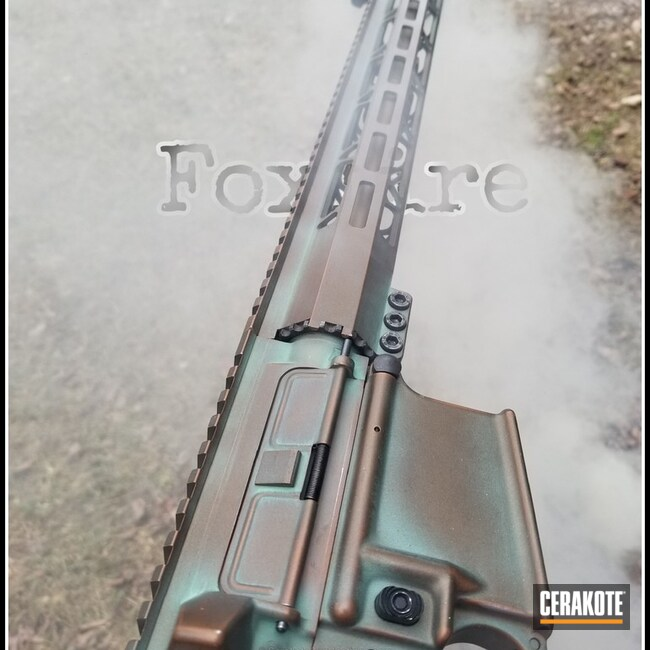 "Thumbnail image for project ""Upper / Lower / Handguard in a Cerakote Copper Patina Styled Finish"""