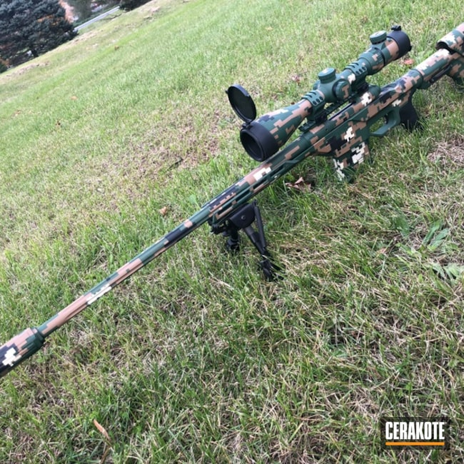 Bolt Action Rifle in a MARPAT Camo Finish