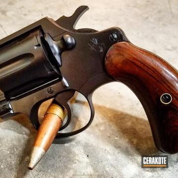 Cerakoted Colt Revolver Refinished In Graphite Black
