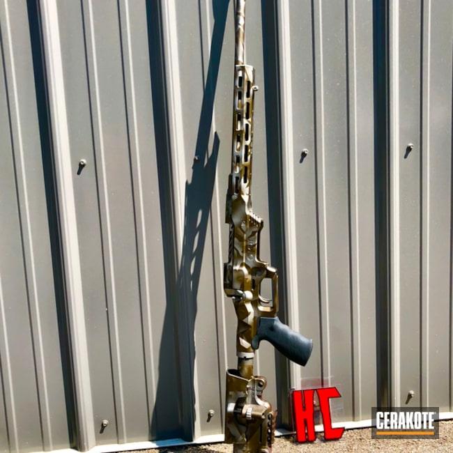 Cerakoted: Bolt Action Rifle,Custom Rifle,Burnt Bronze H-148,Crushed Silver H-255,Splinter Camo,.308