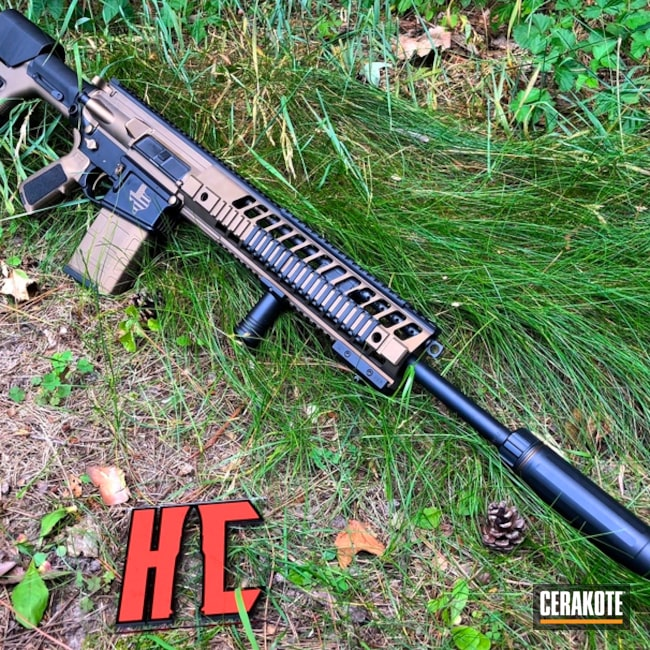 "Thumbnail image for project ""Sig Sauer 716 Hunting Rifle in a Two Tone Black and Bronze Finish"""