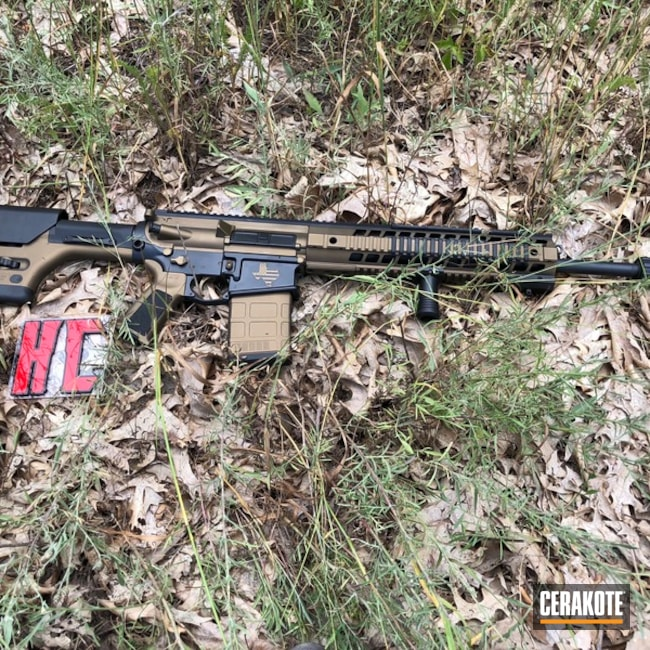 Cerakoted: Sig Sauer 716,Graphite Black H-146,Two Tone,Stippled,Burnt Bronze H-148,Tactical Rifle,Suppressor,Hog Hunting,Texas Flag