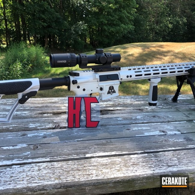 Two Toned AR-15 in a Stormtrooper White and Graphite Black Finish