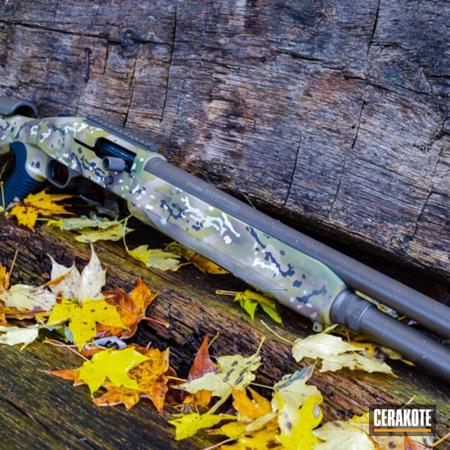 Cerakoted: Custom Mix,MultiCam,Shotgun,Desert Sand H-199,Ral 8000 H-8000,Patriot Brown H-226,Mossberg,Light Sand H-142,Chocolate Brown H-258