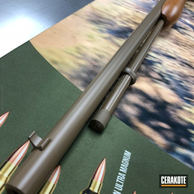 Cerakoted: Rifle,20150 E-190,Wood,Cerakote Elite Series,MATTE CERAMIC CLEAR MC-161,.22LR,Remington,Remington 552,22lr,Semi-Auto