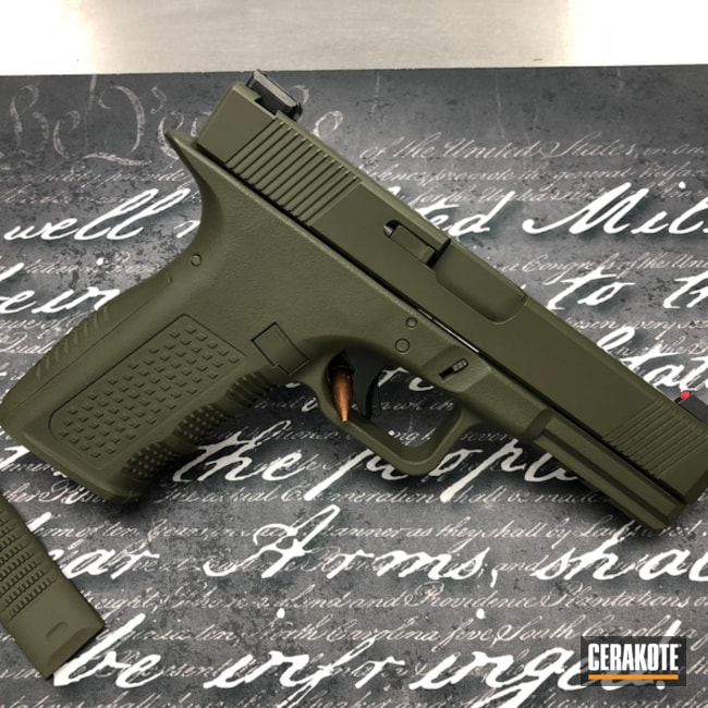 Cerakoted: Sniper Green H-229,Solid Tone,Pistol,Glock,Glock 17,Semi-Auto