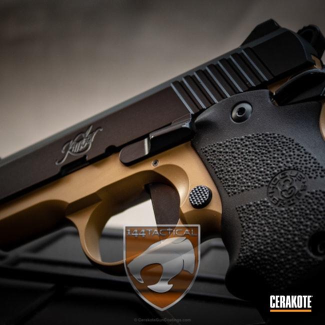 Cerakoted: Midnight E-110,20150 E-190,Kimber Micro Carry,Cerakote Elite Series,Kimber,Two Tone,Pistol