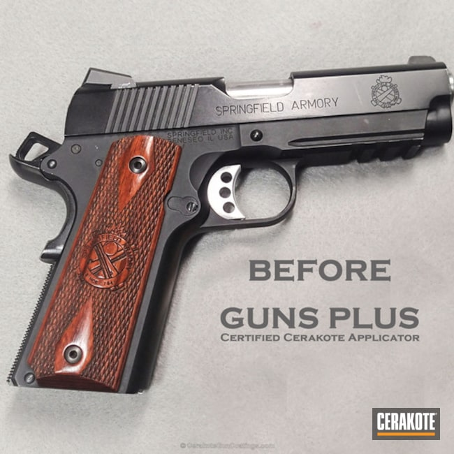 Cerakoted: Springfield 1911,Graphite Black H-146,Springfield Champion Operator .45,Burnt Bronze H-148,Pistol,Springfield Armory,1911