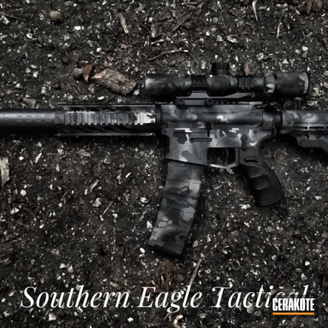 Tactical Rifle in a Black MultiCam Finish