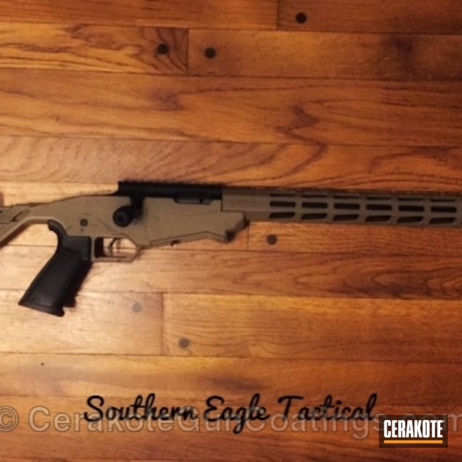 Cerakoted: Bolt Action Rifle,Ruger Precision Rimfire,MAGPUL® FLAT DARK EARTH H-267,Ruger,Two Tone