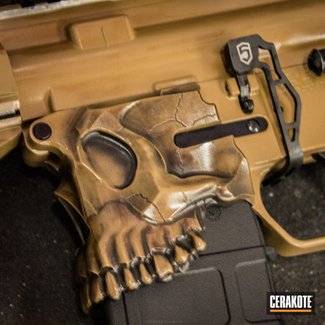 Cerakoted: Skull,Spike's Tactical,TROY® COYOTE TAN H-268,Armor Black H-190,Tactical Rifle,Jack