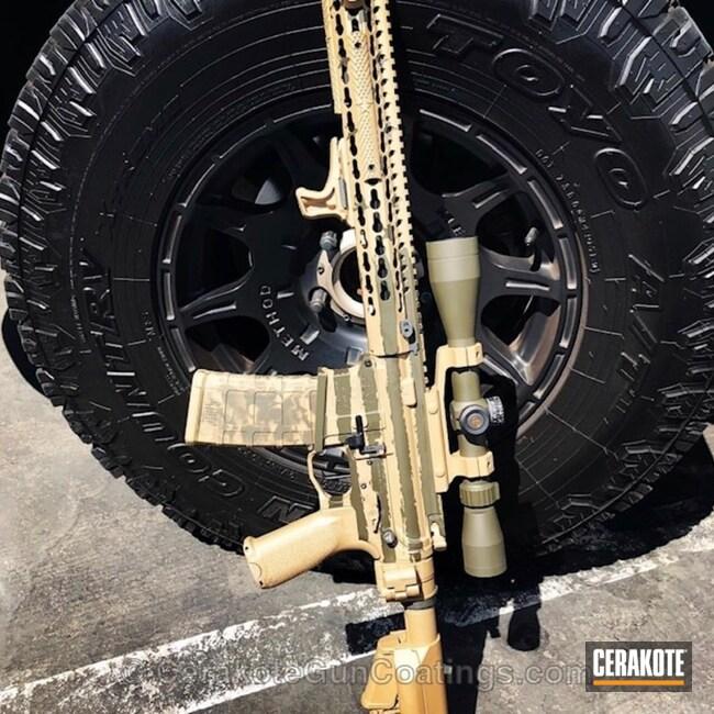 Cerakoted: Desert Sage H-247,Distressed American Flag,Tactical Rifle,American Flag,.223,MAGPUL® O.D. GREEN H-232,Marines,5.56,AR-15