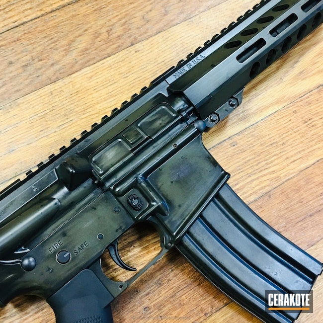 Cerakoted: Palmetto State Armory,Graphite Black H-146,Tactical Rifle,Mil Spec Green H-264