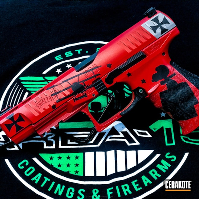 Snoopy Themed Finish on this Walther Handgun
