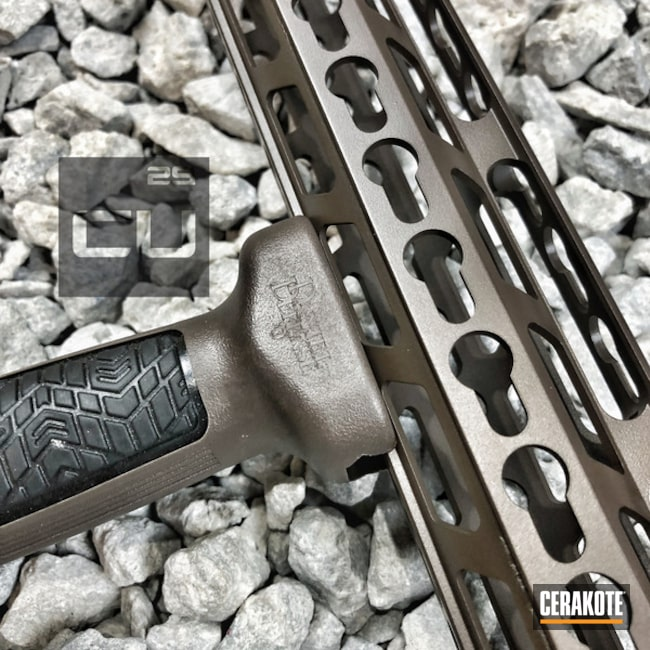 Cerakoted: Handguard,Color Match,Chocolate Brown H-258,AR-15