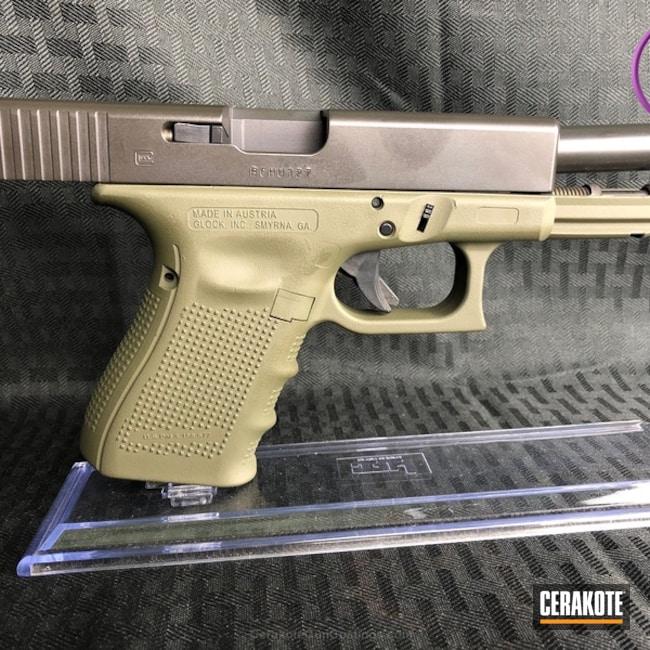 Cerakoted: Two Tone,Pistol,Glock,MAGPUL® O.D. GREEN H-232