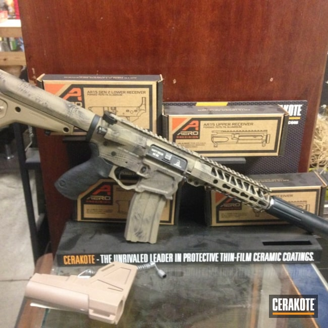 Cerakoted: MAGPUL® FLAT DARK EARTH H-267,Graphite Black H-146,F1 Firearms,Rebel Silencer,SBR
