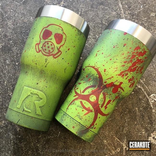 Cerakoted: Blood Splatter,Zombie,Glock Grey H-184,Zombie Green H-168,Biohazard,USMC Red H-167,GLOCK® GREY H-184,More Than Guns,Custom Tumbler Cup,Zombie Apocalypse,Tumbler