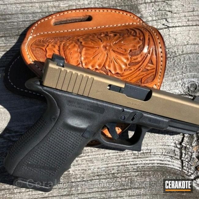 Cerakoted: Graphite Black H-146,Two Tone,Burnt Bronze H-148,Pistol,Glock